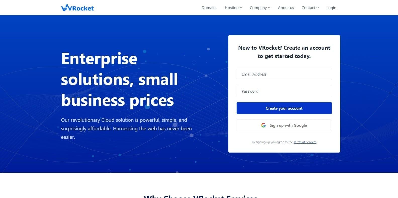 vrocket-hosting-website-template