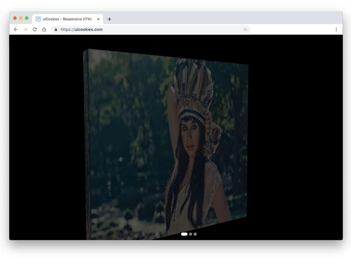 three-dimensional rotating image slider