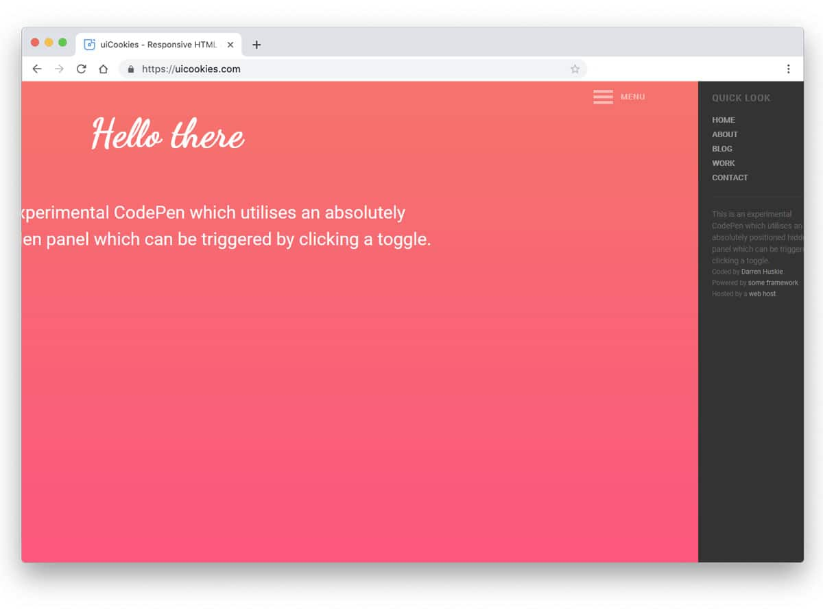 Bootstrap Responsive Menu Codepen
