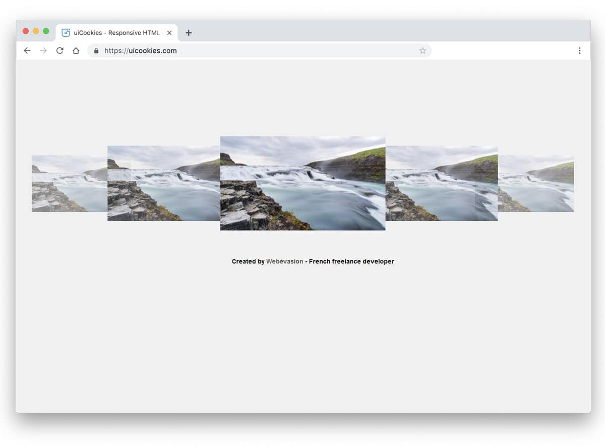 coverflow slider to clearly show upcoming images