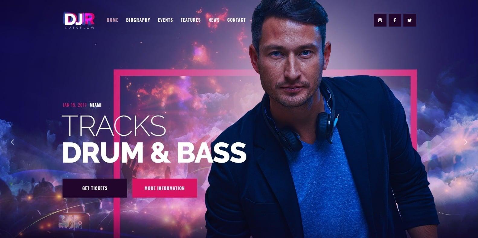 DJR-dj-website-template