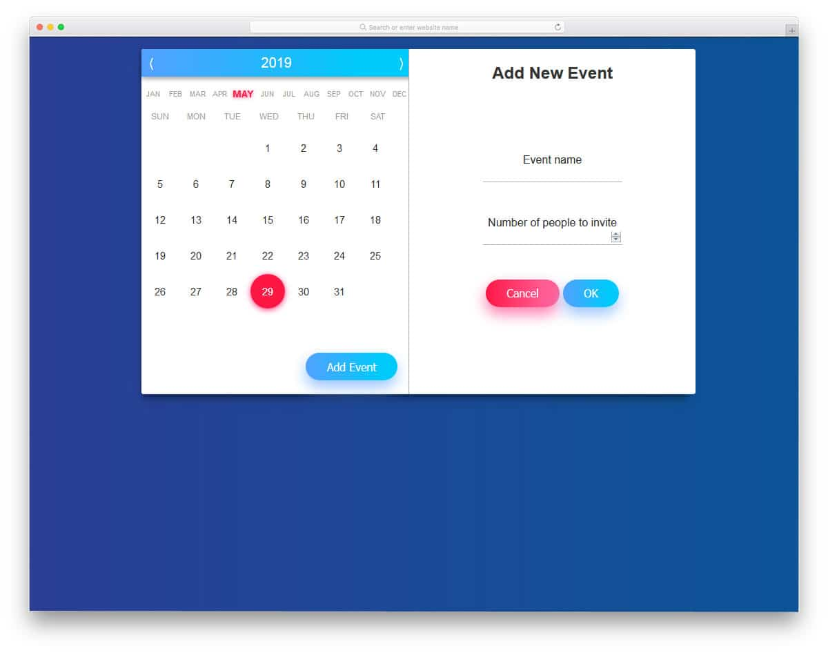 fully functional datepicker calendar