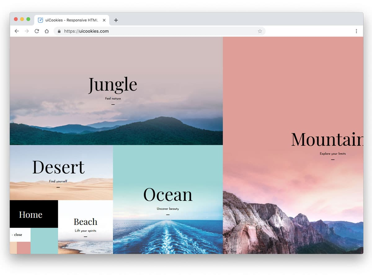 image rich navigation menu