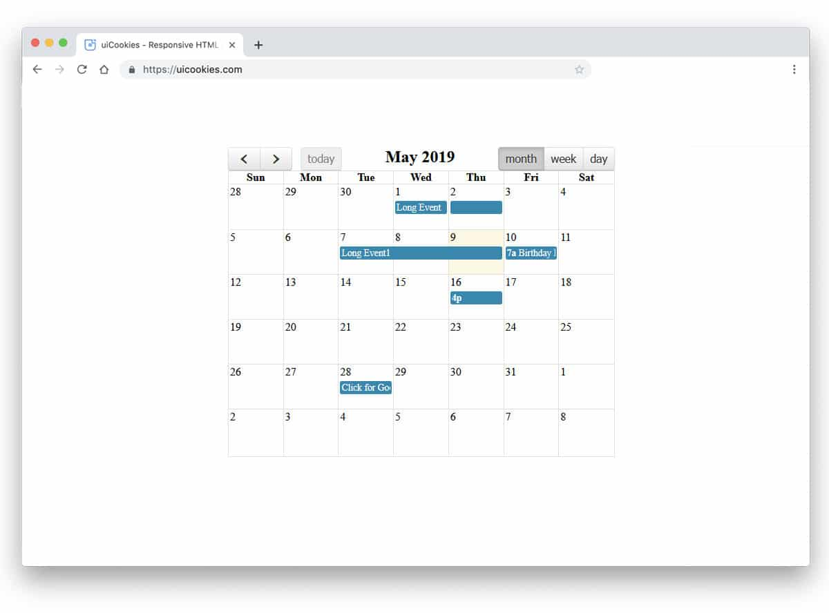 20 Professional And Crazy Bootstrap Calendar Examples - 2019