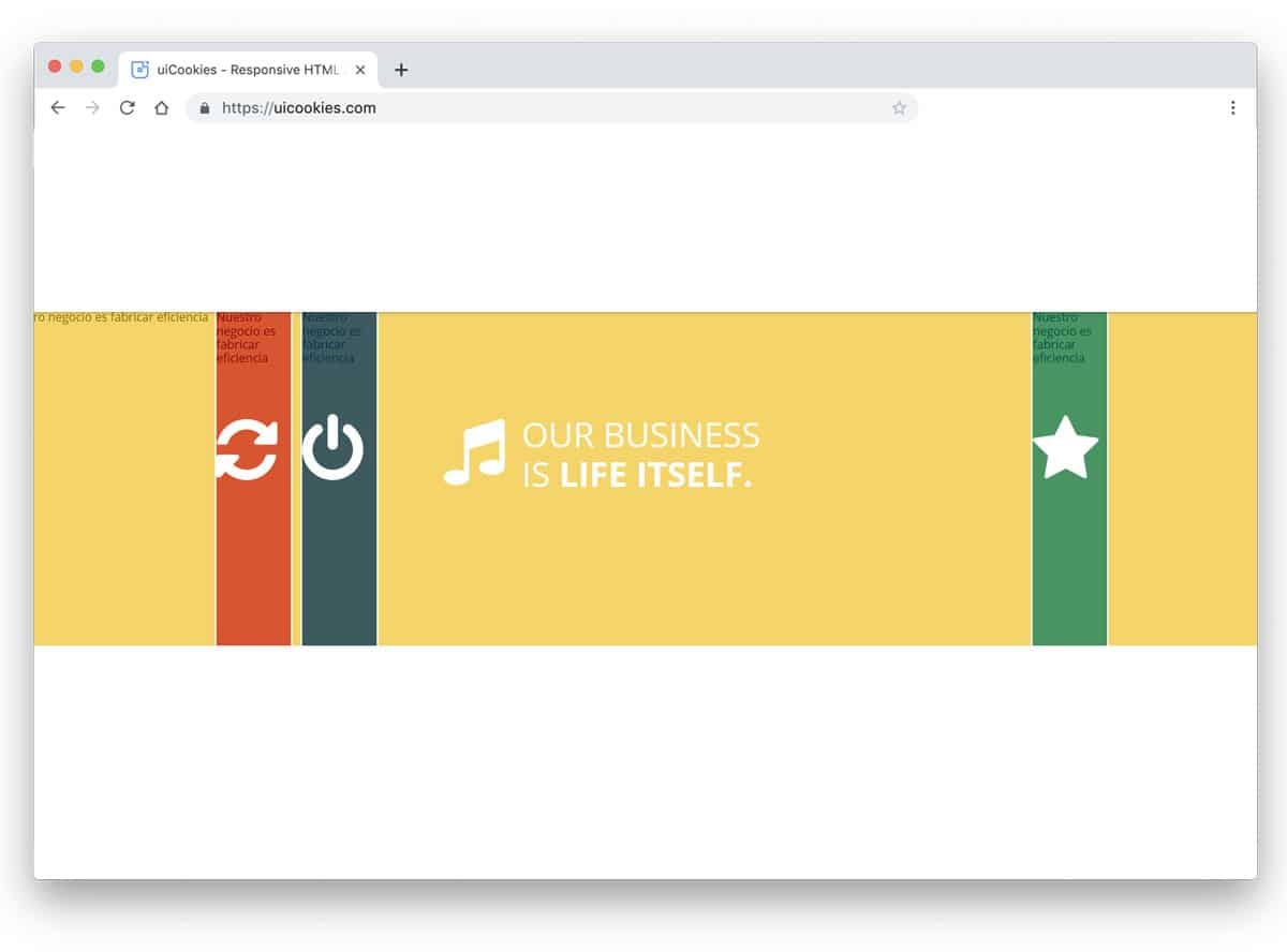 creative full width accordion design