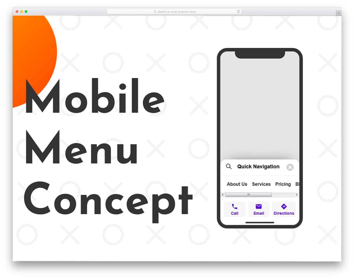 interesting and feasible mobile menu concept