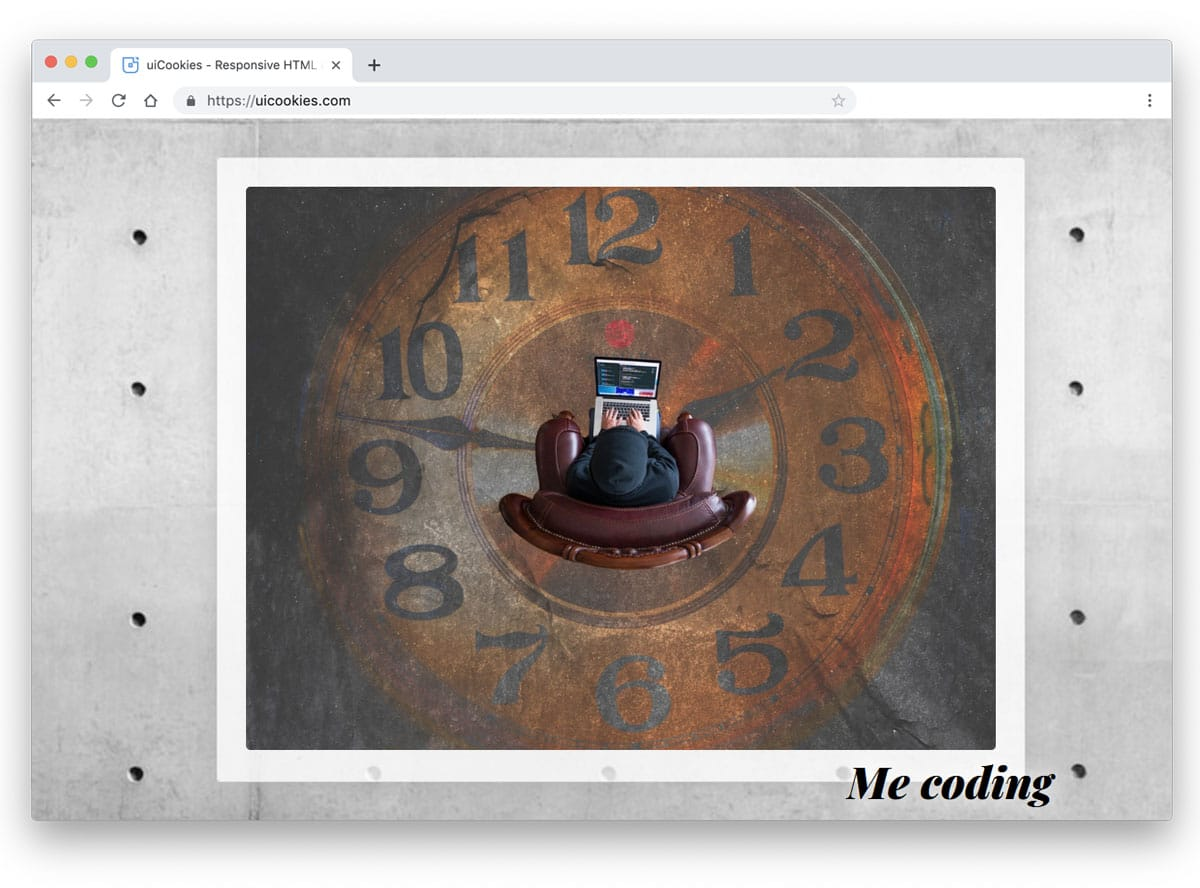 interactive prallax style image gallery