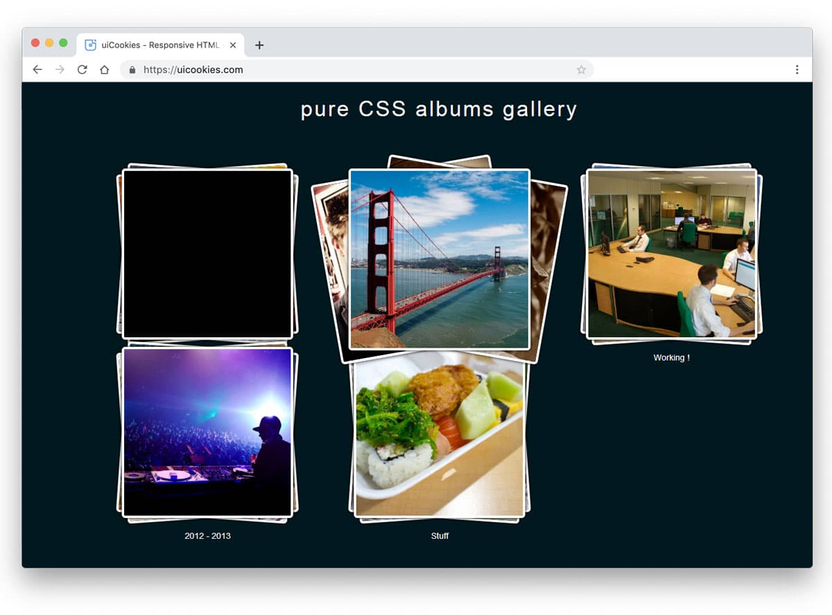 gallery example for albums