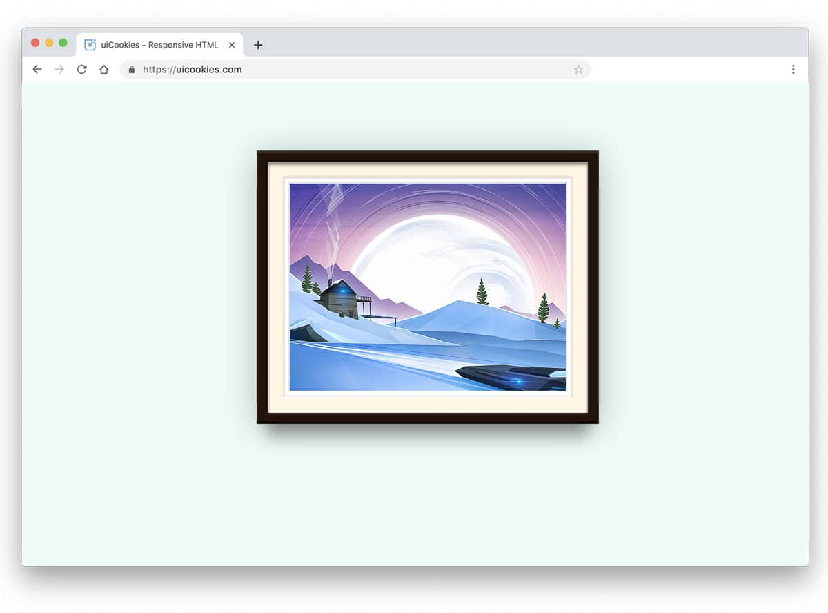 photo frame based featured image slider