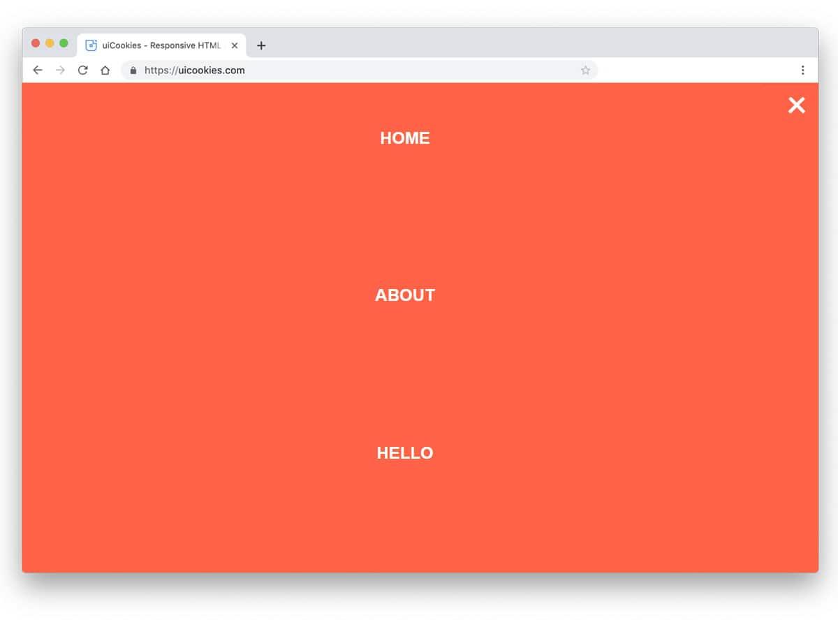 regular full-page menu design