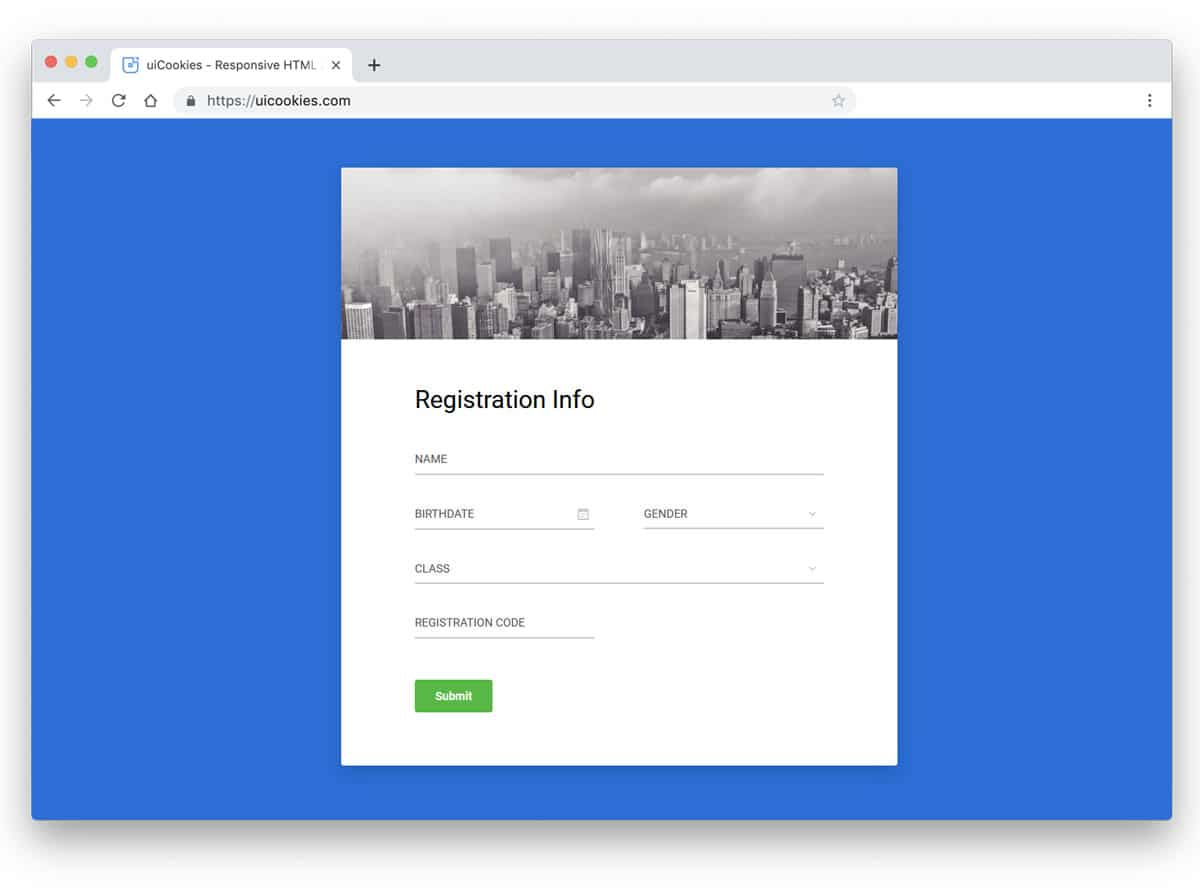 33 Bootstrap Registration Form Examples 2020 Uicookies