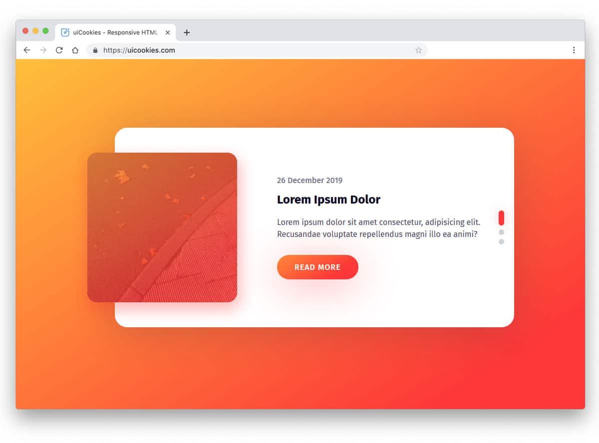bootstrap slider for cards