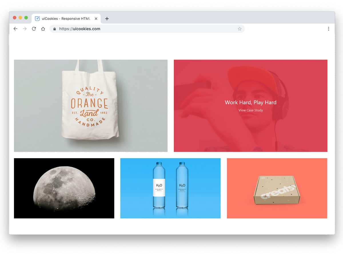 bootstrap gallery example for portfolio website