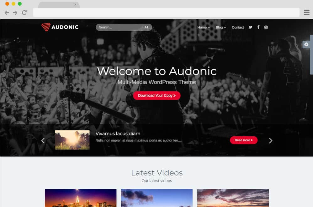 audonic podcast website templates