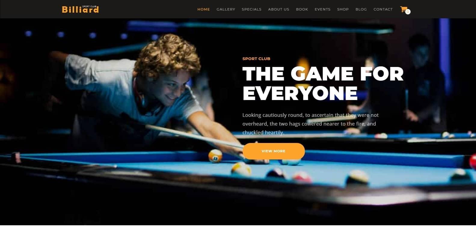 billiard-sports-website-template