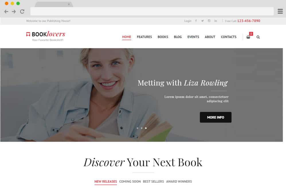 booklovers author website templates