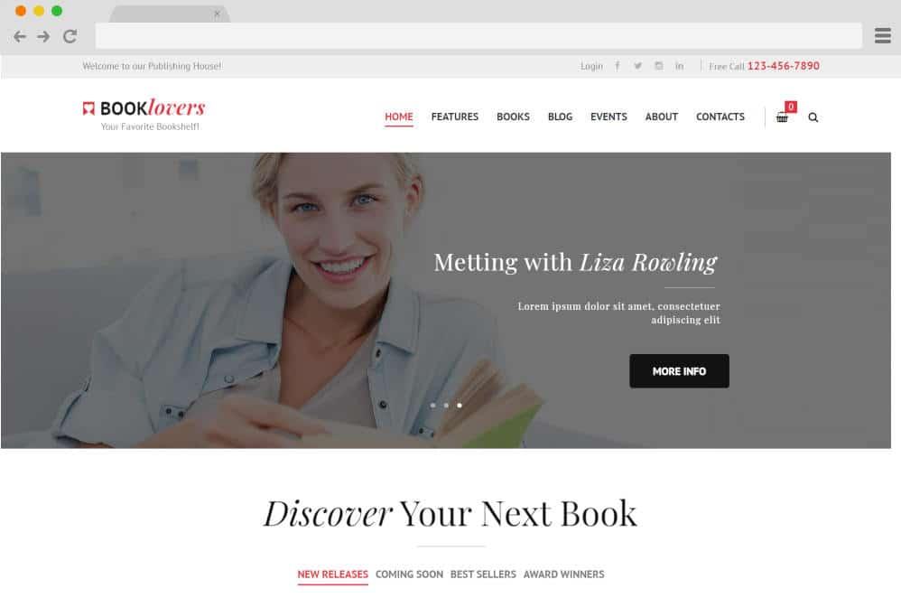 booklovers author website templates