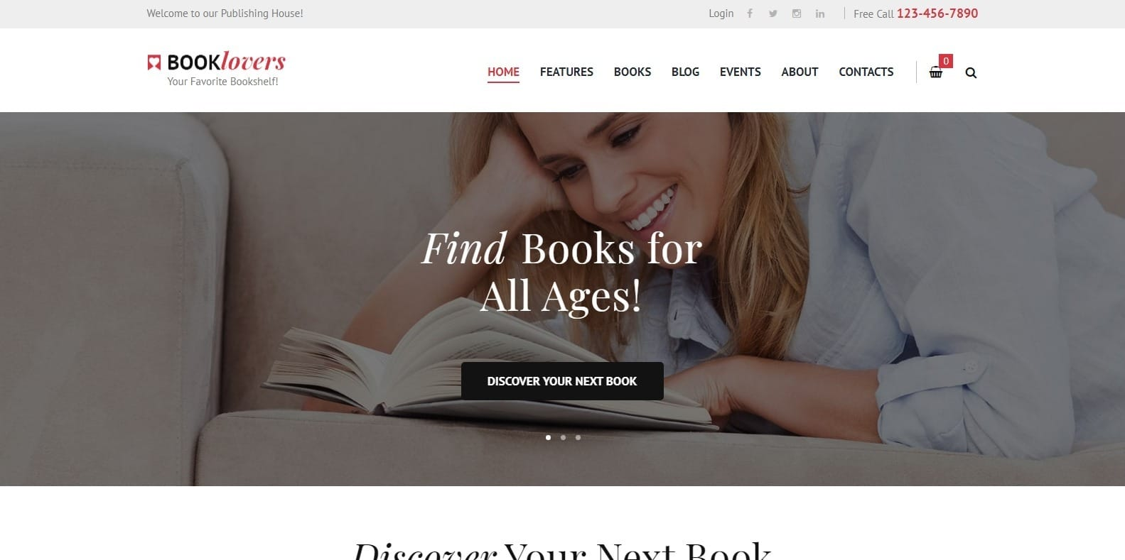booklovers-html-bookstore-website-template
