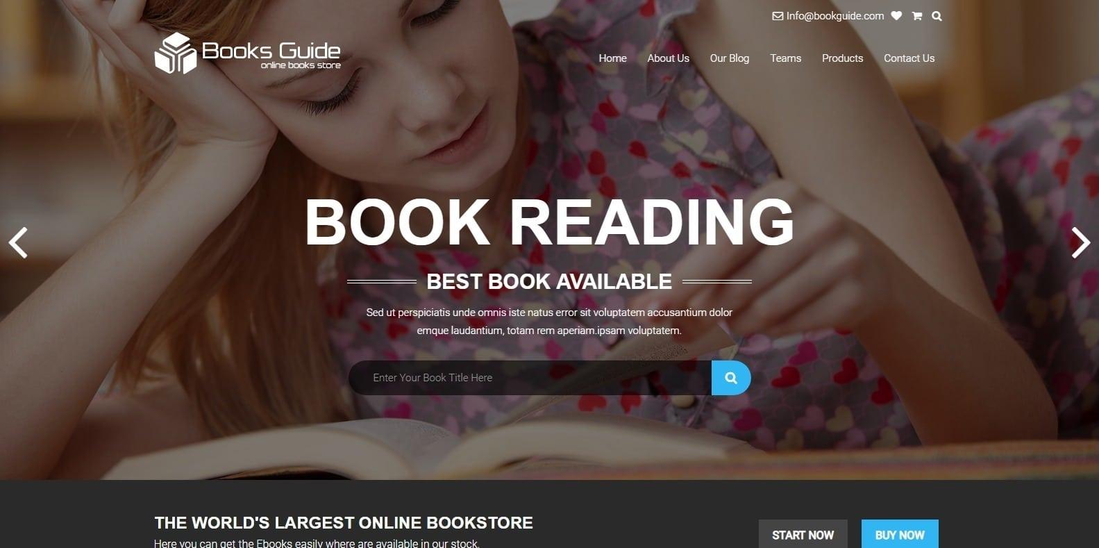 booksguide-html-bookstore-website-template