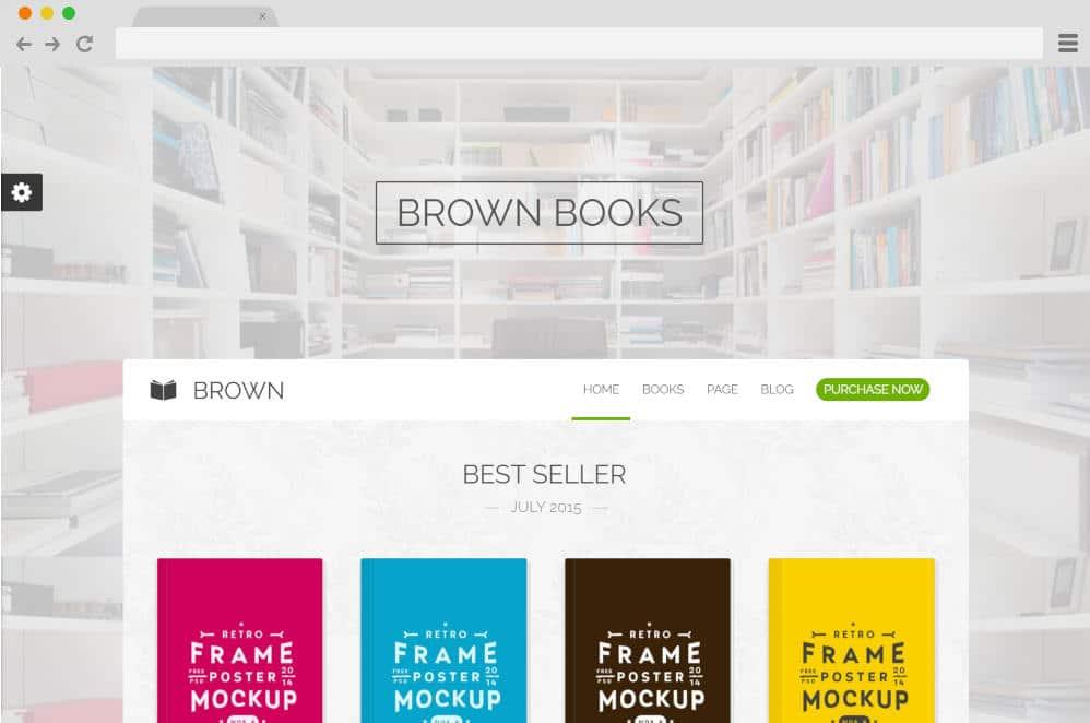 brown author website templates