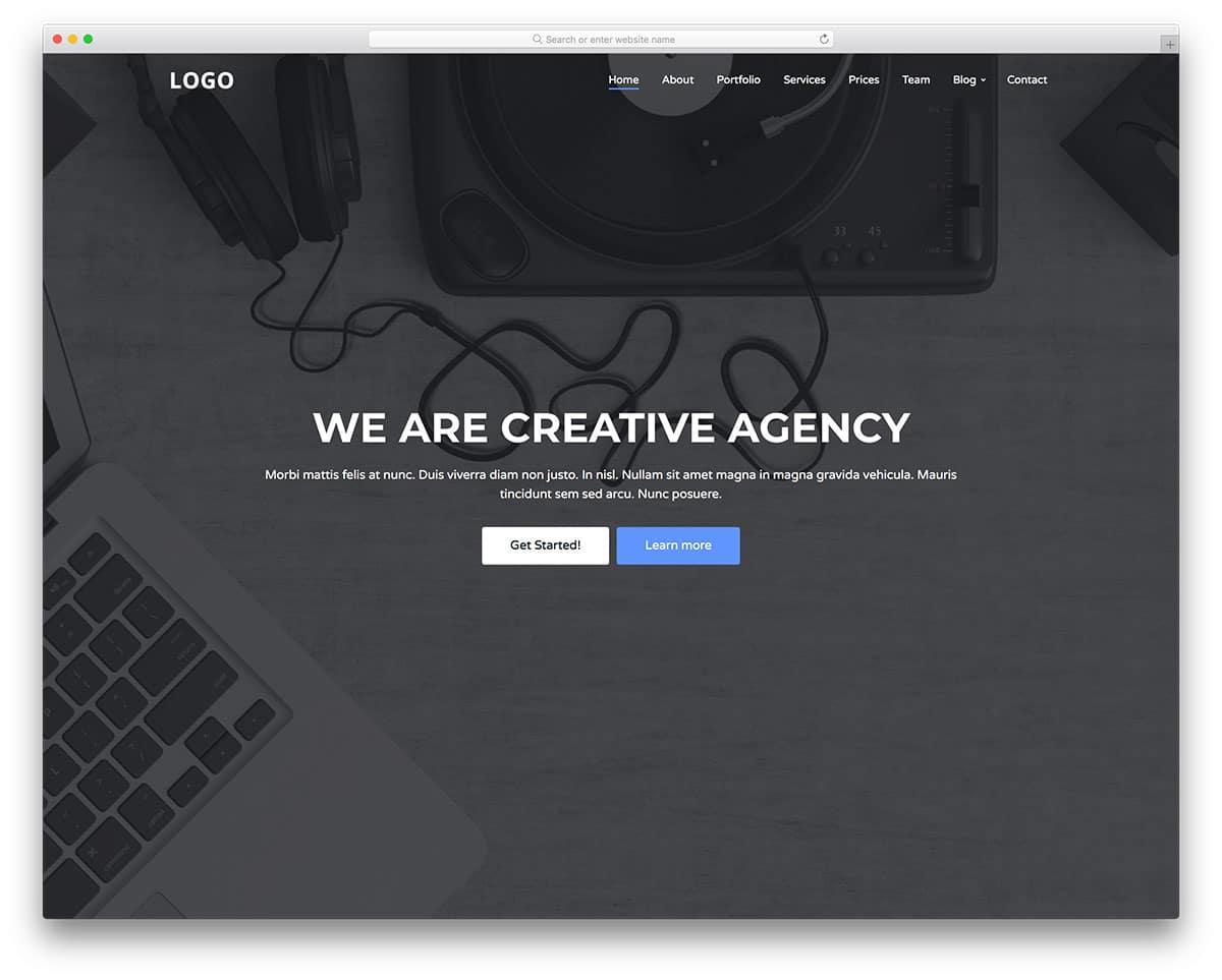 simple and straightforward header design
