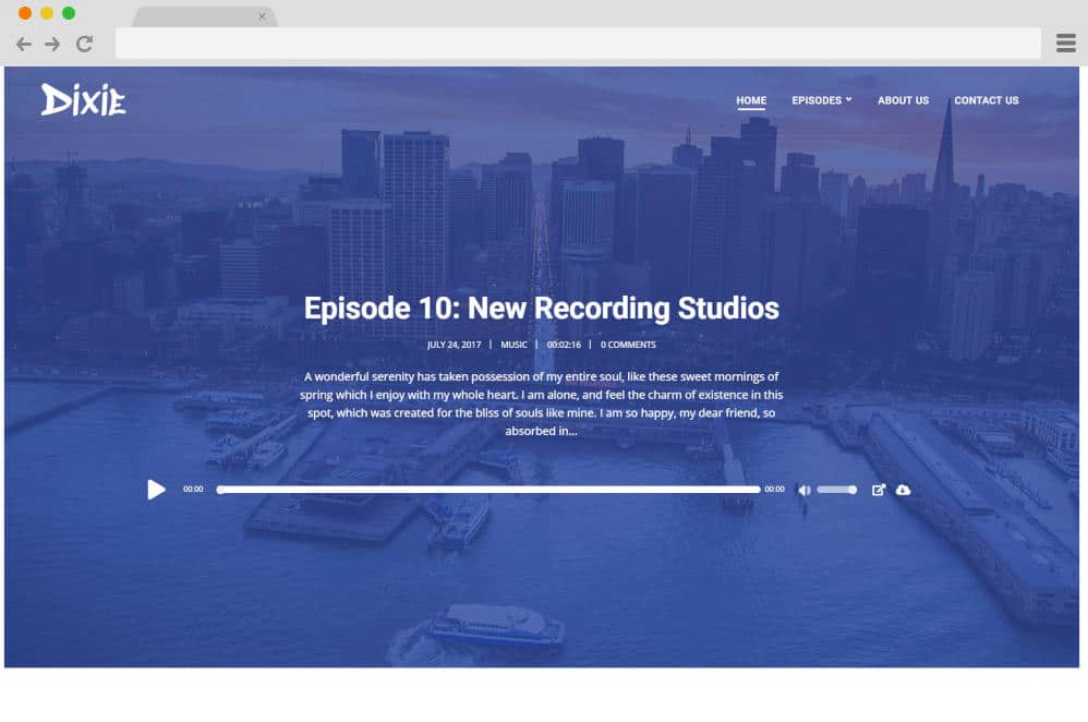 dixie podcast website templates