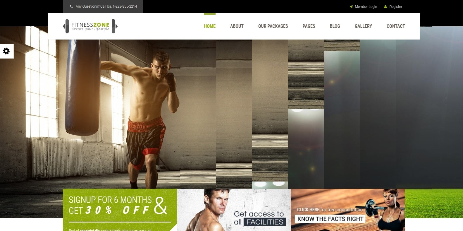 fitneszone-sports-website-template