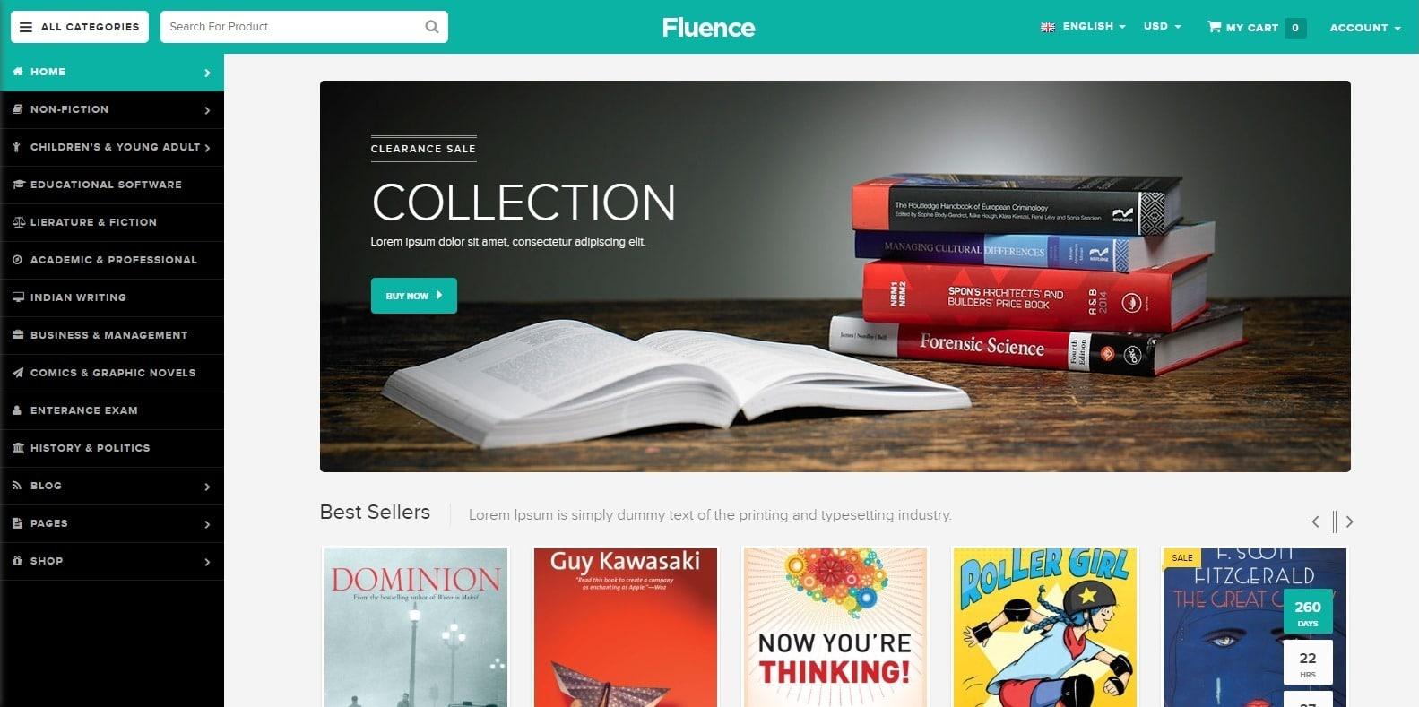 fluence-html-bookstore-website-template