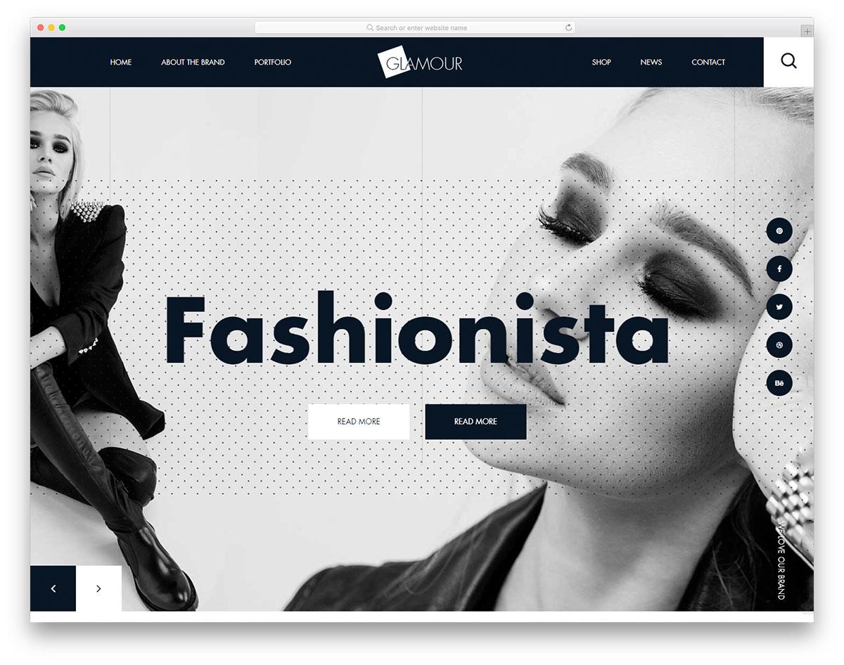 brand focused navbar design