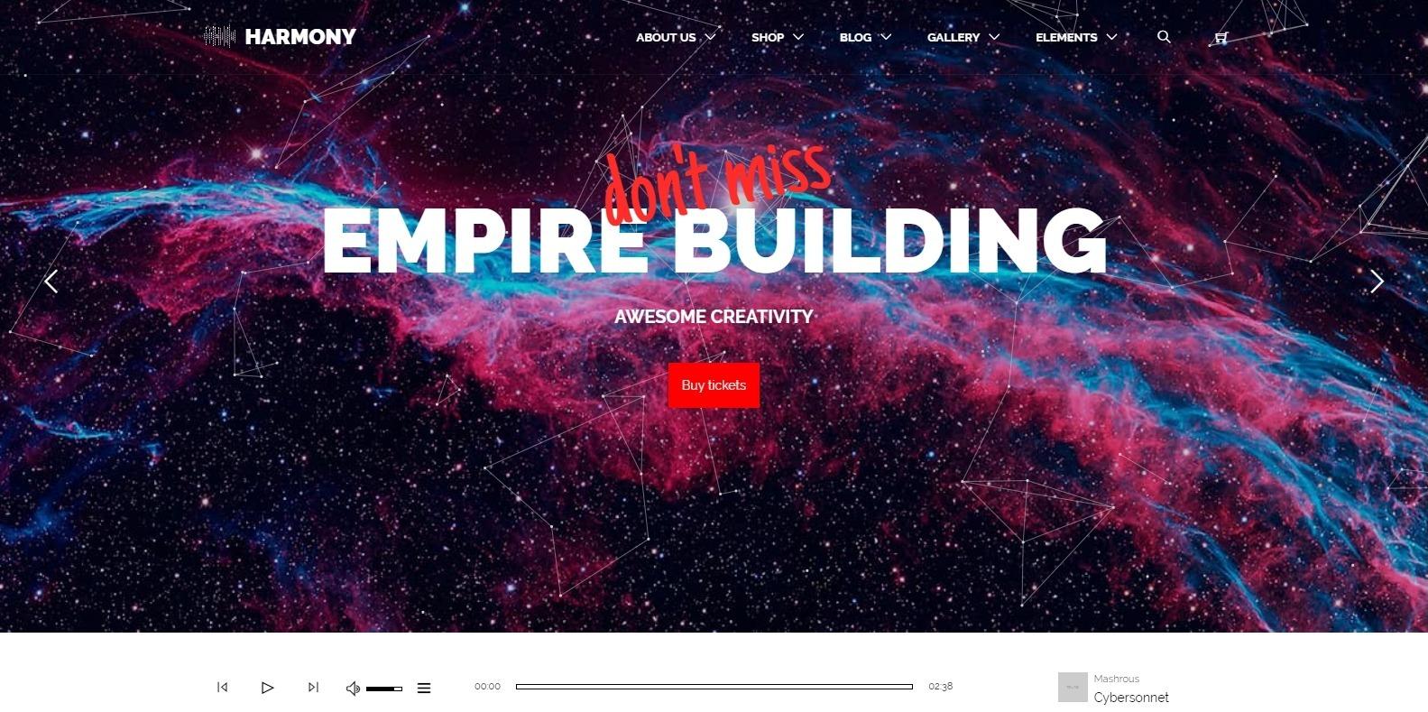 harmony-dj-website-template