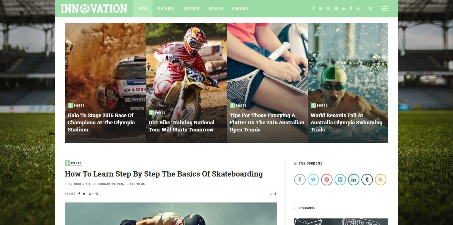 innovation-sports-website-template