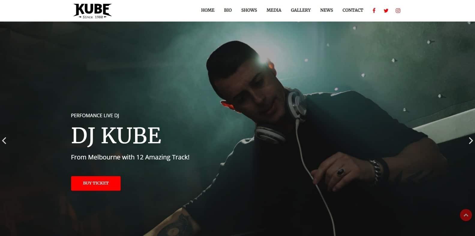 kube-dj-website-template