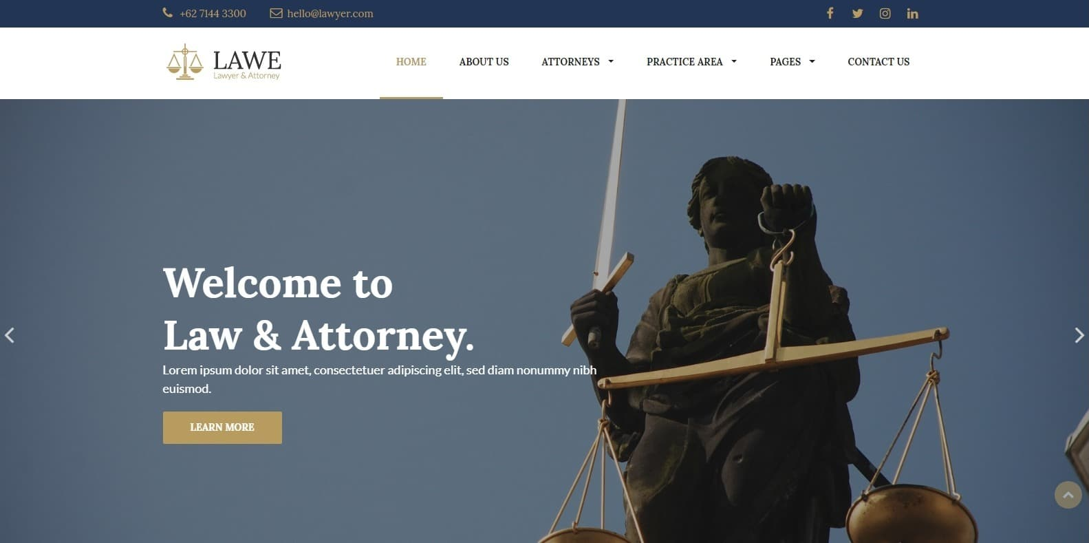 lawe-attorney-website-template