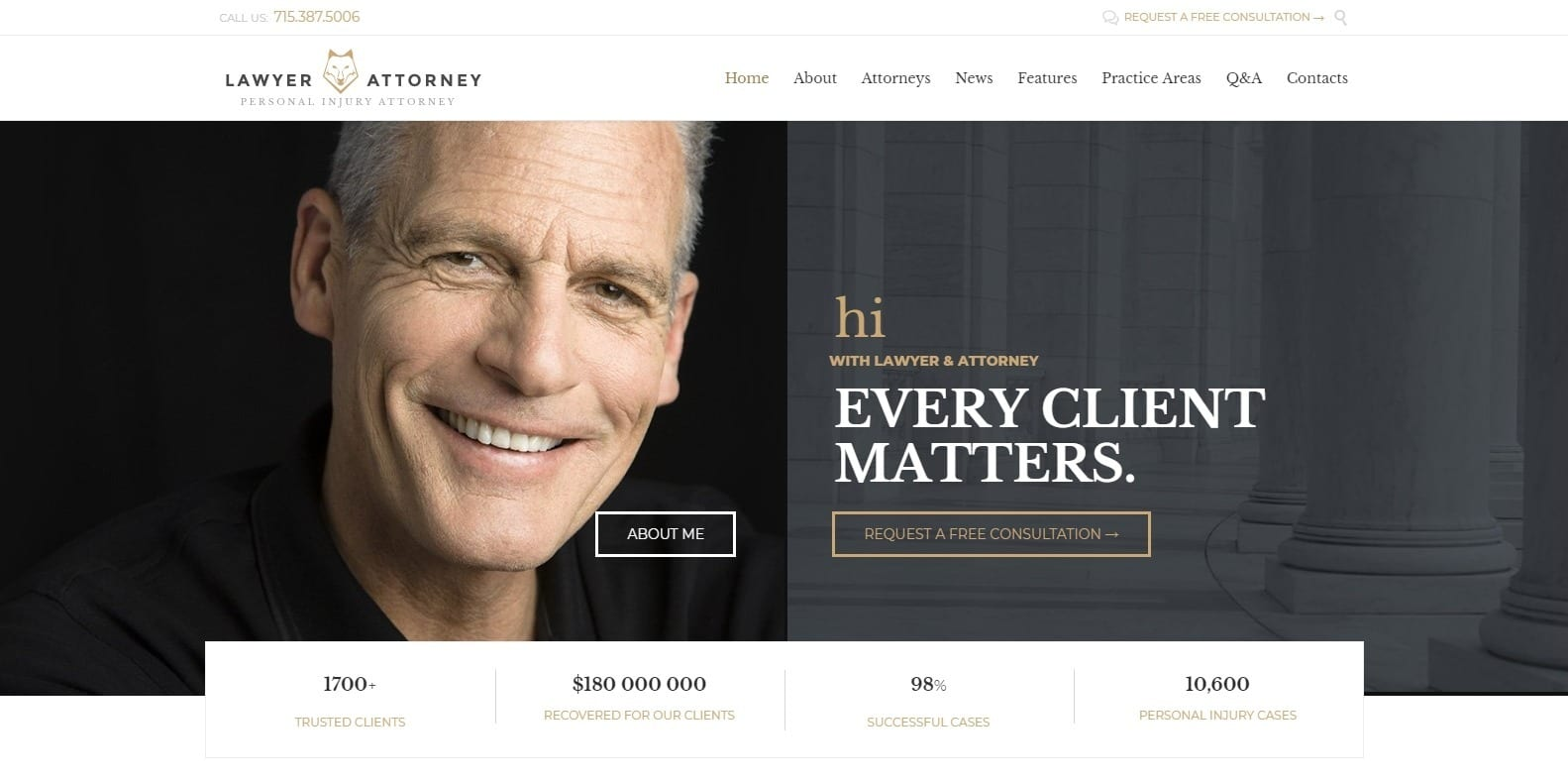 lawyers and attorney-attorney-website-template