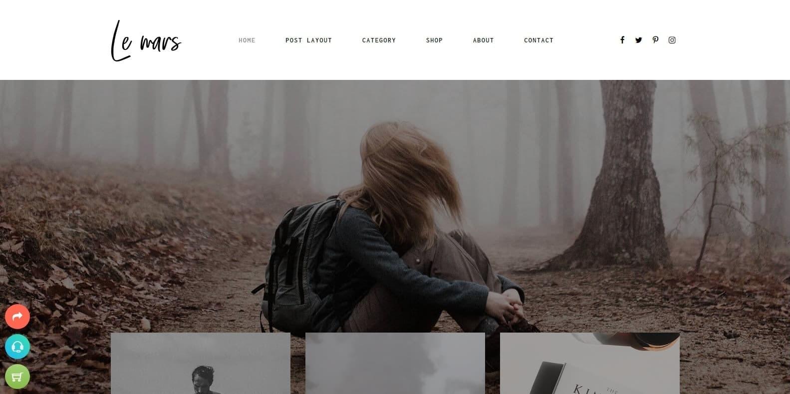 le-mars-author-website-templates