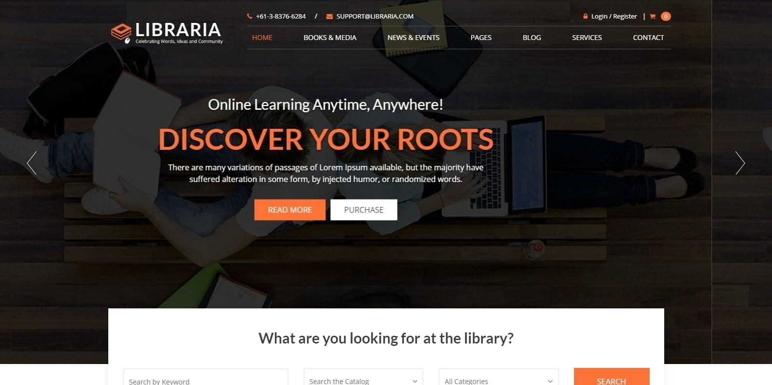 libraria-html-bookstore-website-template