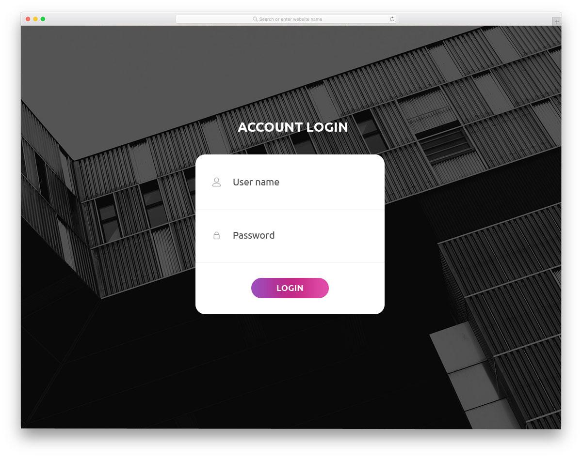 simple and versatile login form design