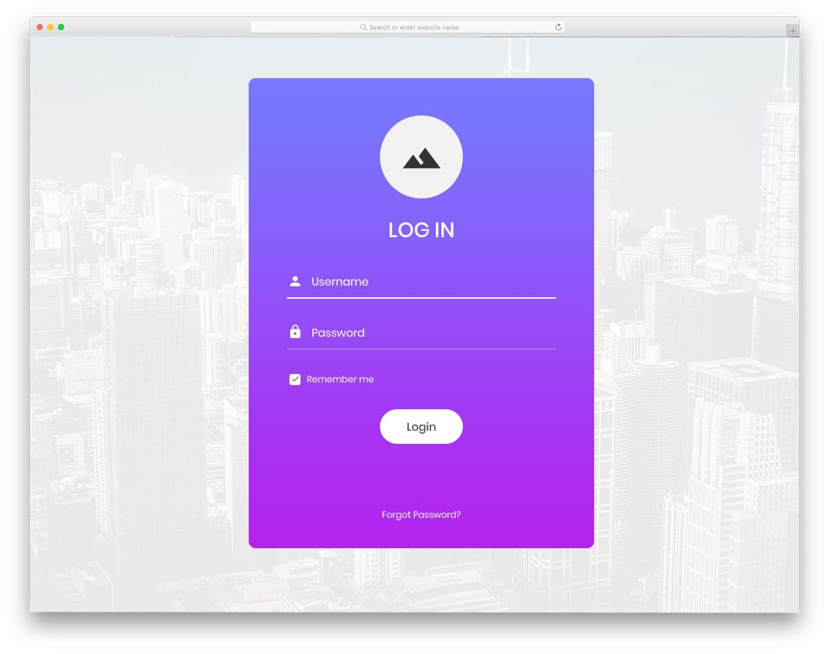 simple and ready to use login page design