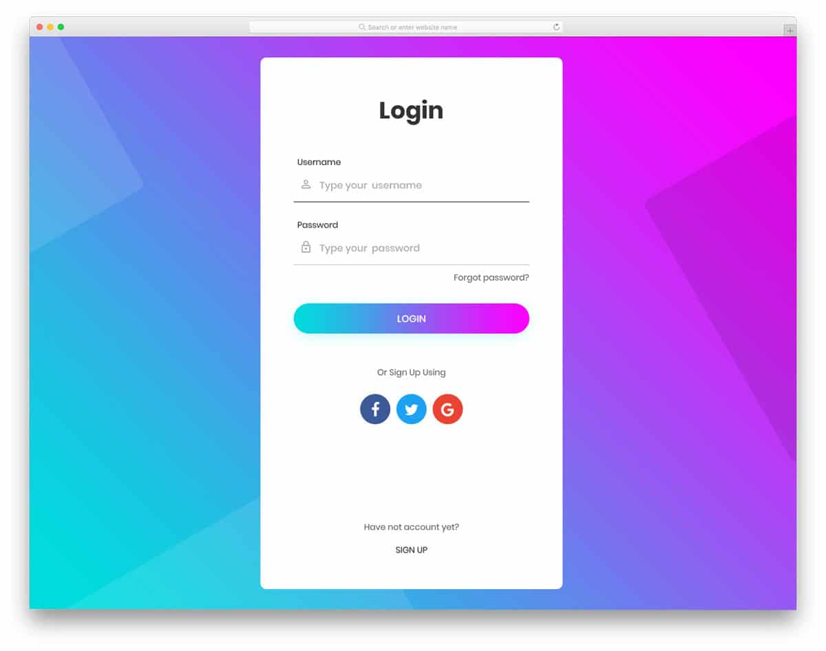 options rich login page
