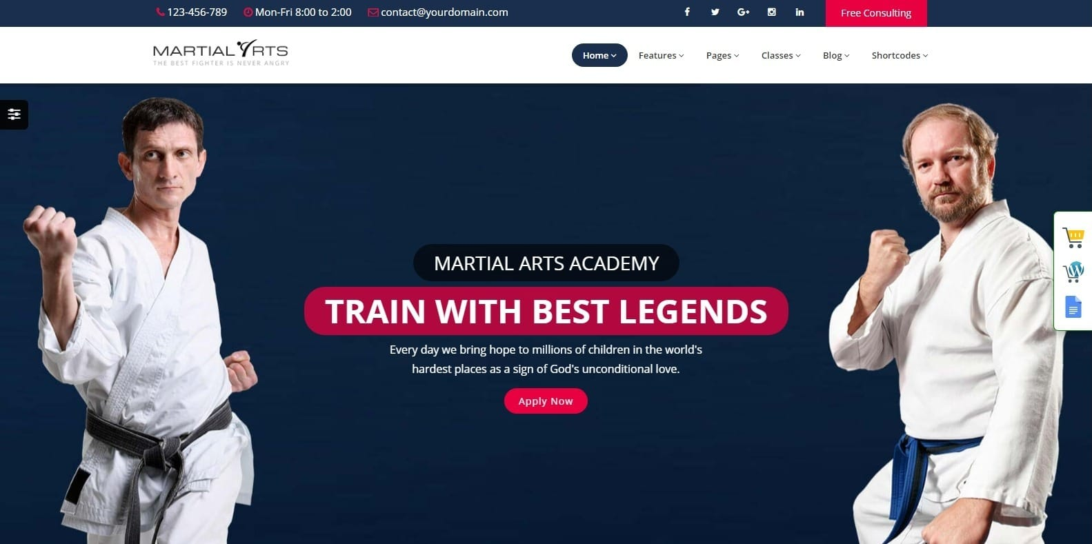 martial-arts-sports-website-template