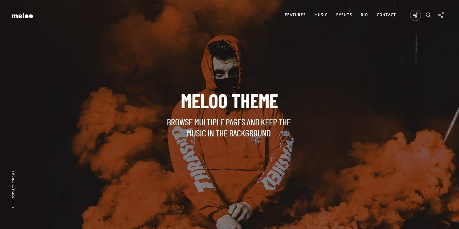 meloo-dj-website-template