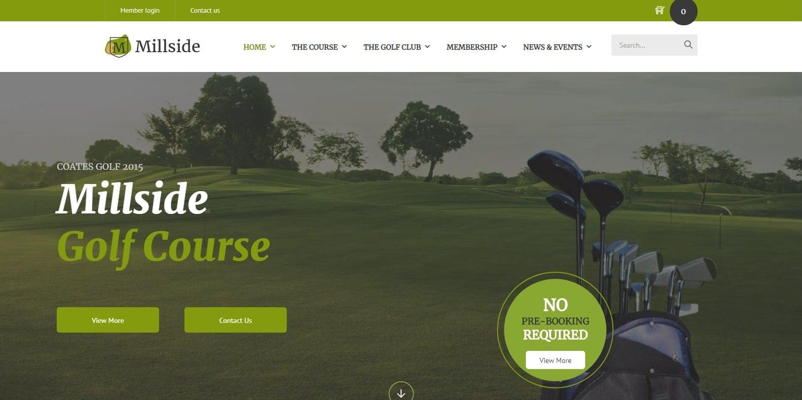 millside-sports-website-template