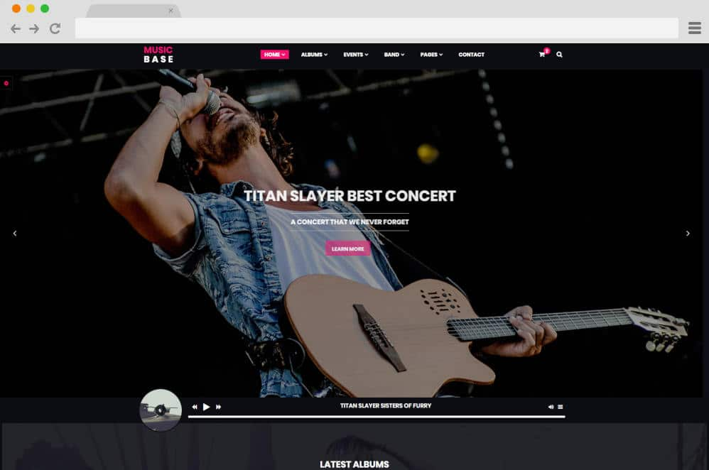 music base podcast website templates