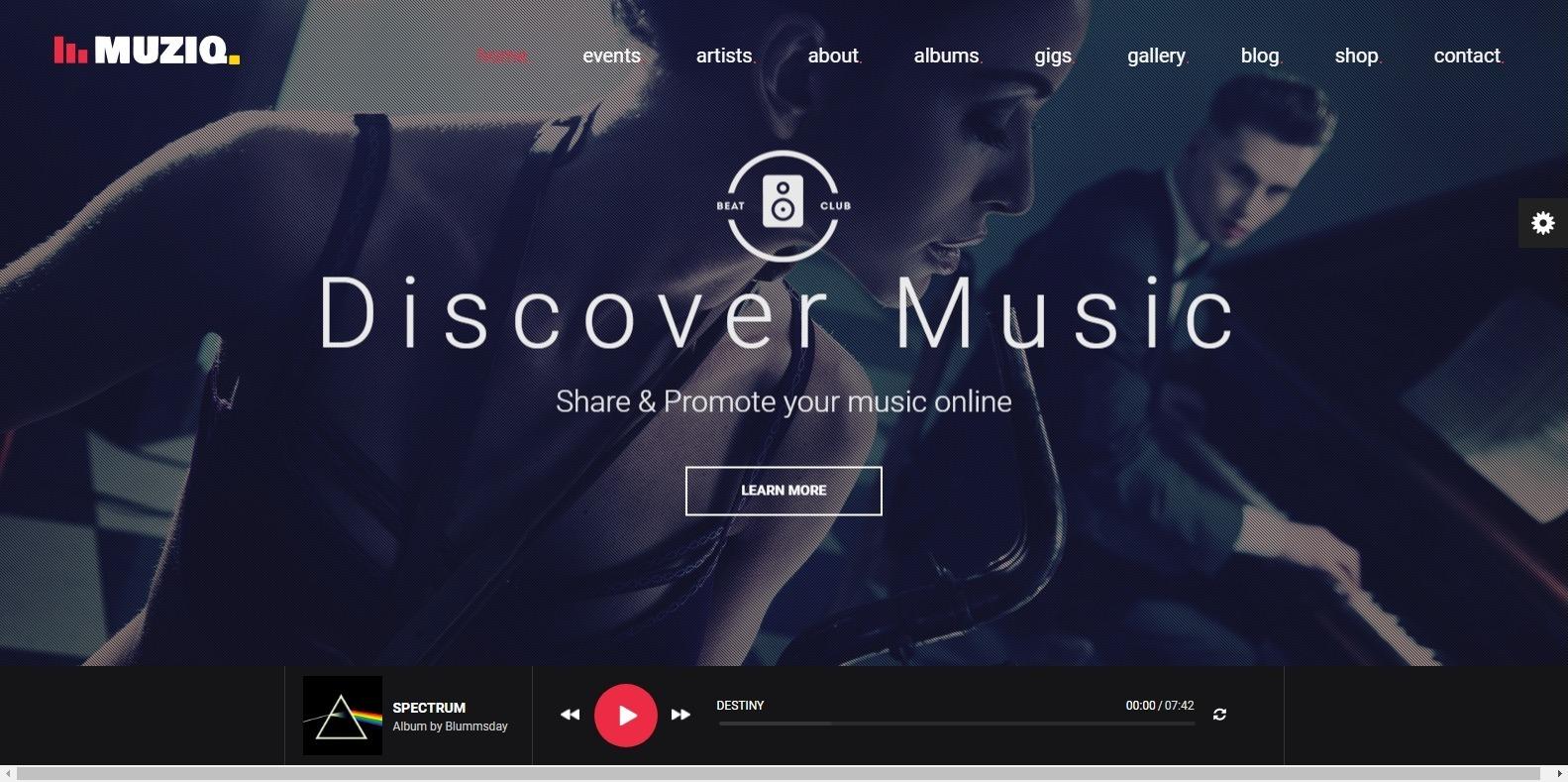 muziq-dj-website-template