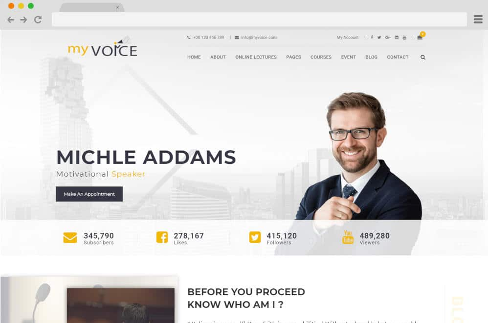 my voice podcast website templates