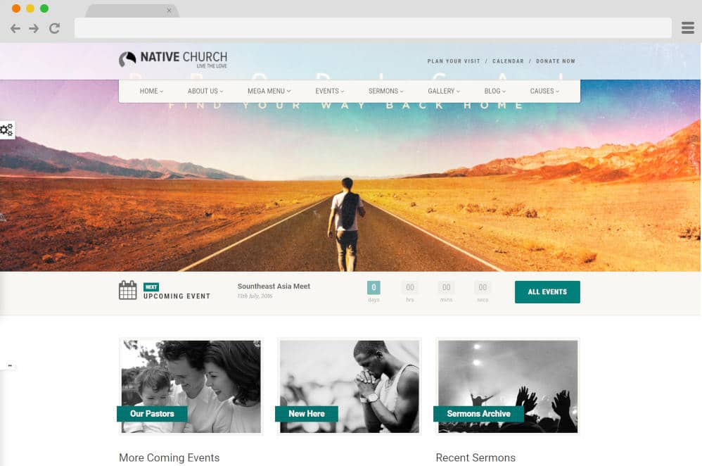 native church master podcast website templates