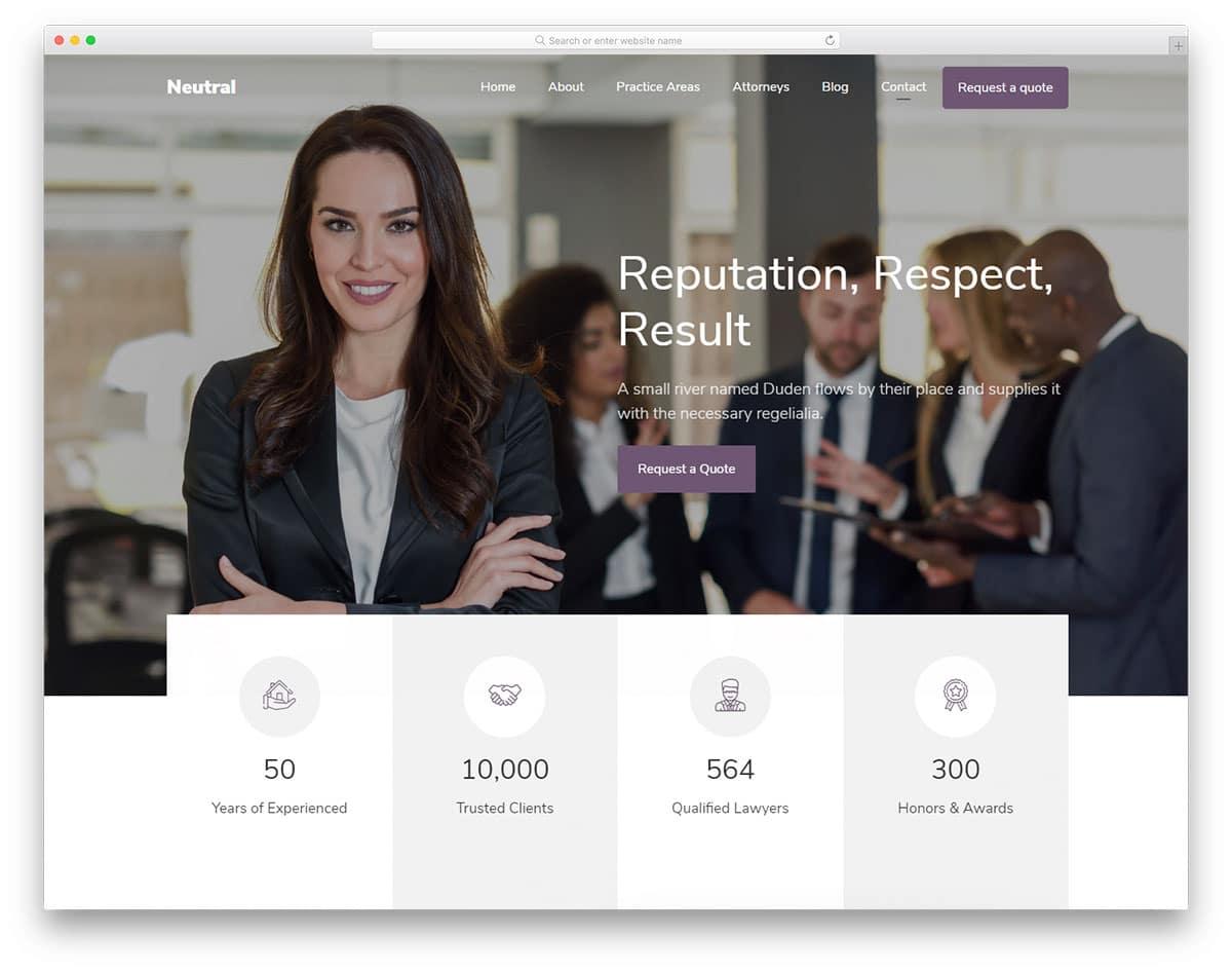 smart header design to improve credibility