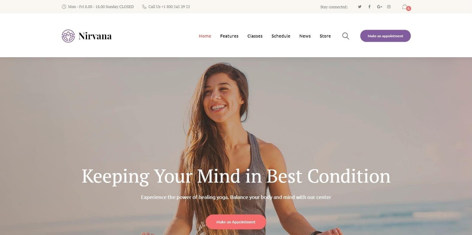 nirvana-sports-website-template