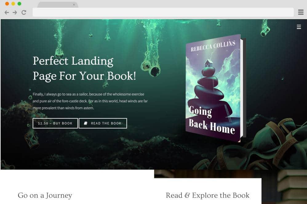 novela author website templates
