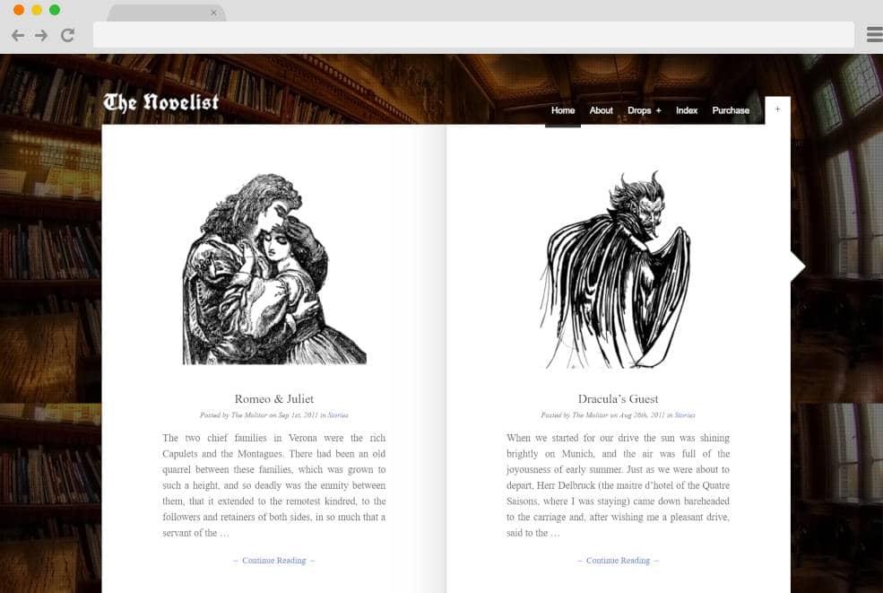 novelist author website templates